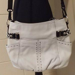 Tignanello light gray crossbody bag